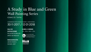 Ignacio Tapia. A Study in Blue and Green.Wall painting Series