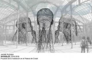 Jaume Plensa. Invisibles, 2016-2018. Proyecto de instalación en el Palacio de Cristal — Cortesía del MNCARS