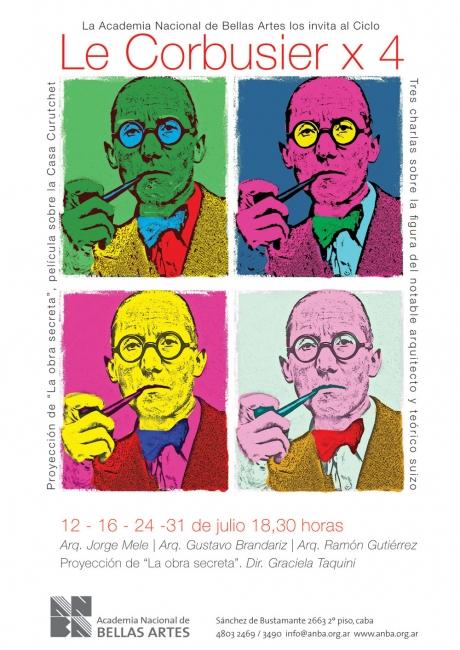 Le Corbusier x 4. Imagen cortesía ANBA