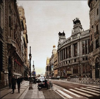 Calle de Alcalá, (176 x 125 cm.) óleo/lienzo