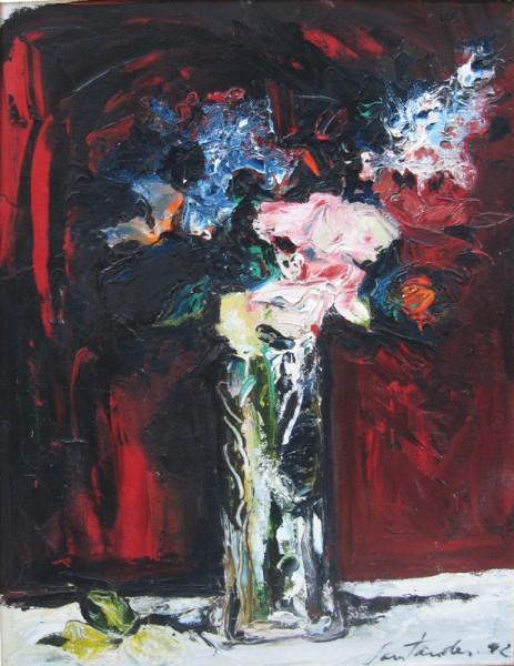 Cristina Santander - Homenaje a Monet - oleo sobre tela - 79cms x 58cms (1992)