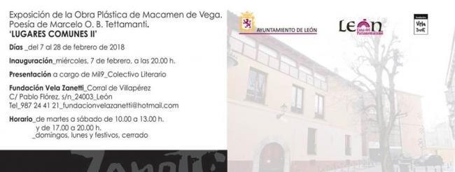 Macamen de Vega. Lugares comunes II | Ir al evento: 'Lugares comunes II'. Exposición en Fundación Vela Zanetti / León, España