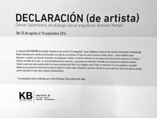 Declaración (de artista)