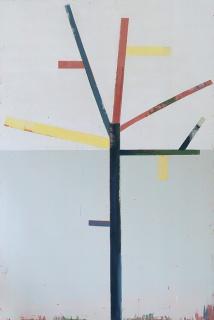 Árbol (2018) Acrílico sobre tela 180 x 150 cm. Cortesía de Ana Mas