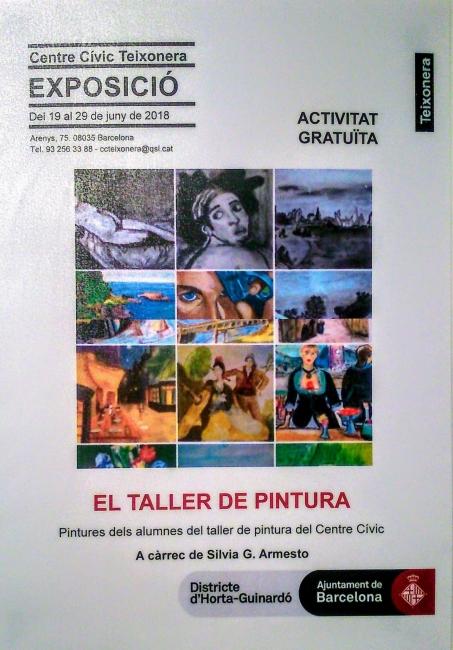 Cartel informativo al respecto de la exposición colectiva