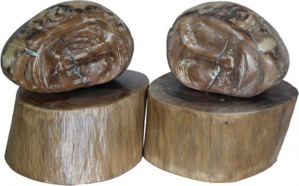 Antonio Abero, Los gemelos, Madera de acacia y nogal español, 52x28 cm.