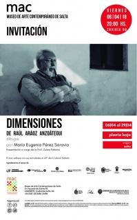 DIMENSIONES. Imagen cortesía Museo de Arte Contemporáneo de Salta