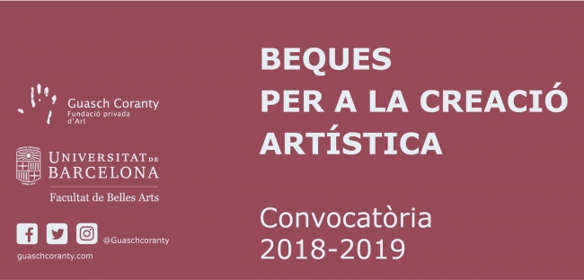 Beques per a la creació artística 2018-2019