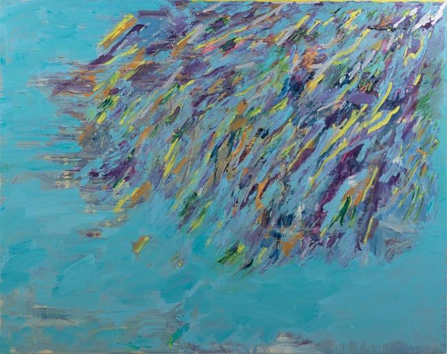 Dilúvio II  Óleo sobre tela, 200 x 250 cm, 2018. Cortesía de SIM