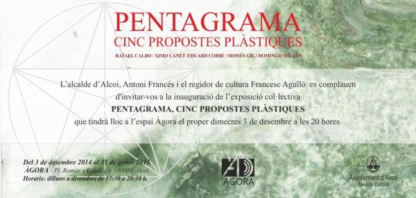 Pentagrama Cinc propostes Plàstiques