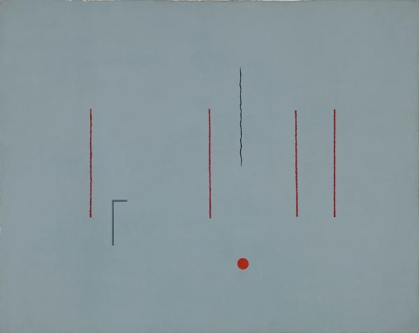 Pic Adrian, Sin título, 1967, acrílico sobre tela, 73x92cm.