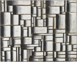 Joaquín Torres-García, Construction in White and Black. 1938. Cortesía MoMA de Nueva York