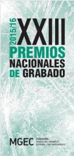 XXIII Premios Nacionales de Grabado 2015/16