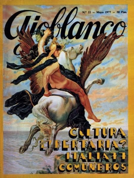 Portada del número 22 de la revista Ajoblanco, maig de 1977 © Archivo Ajoblanco