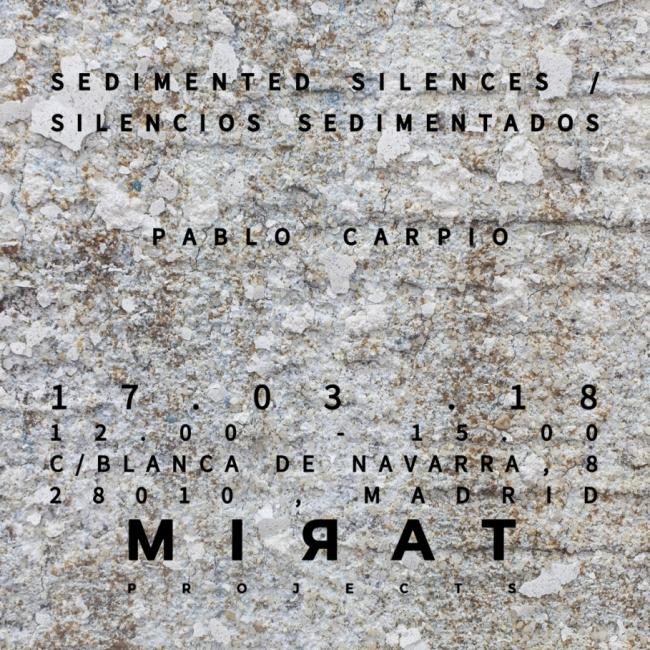 Silencios sedimentados por Pablo Carpio