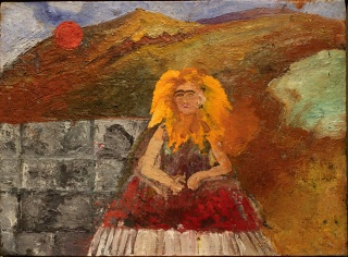 "Frida Kahlo ""Self-Portrait Inside a Sunflower"" 1954 (Frida Kahlo's last self-portrait). Imagen cortesía Mary-Anne Martin | Fine Art"