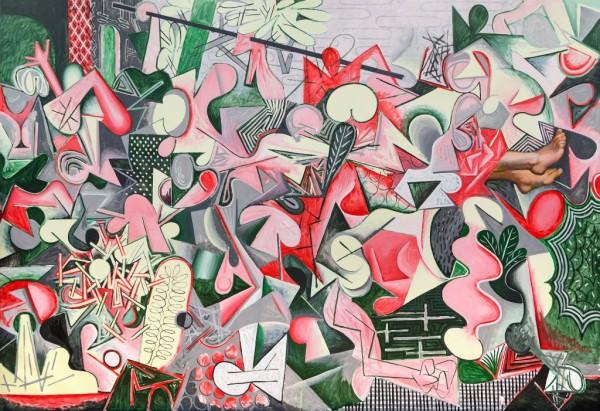 Luis Vassallo, Zancadilla, 2015, óleo sobre lienzo, 240x340 cm.