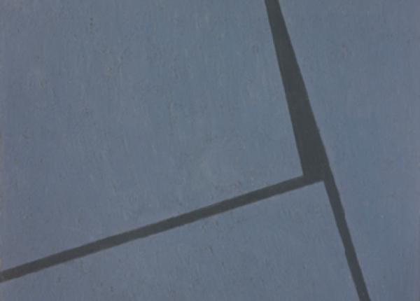 Fernando Lanhas, 016-53, 1953. Óleo sobre platex, 71 x 63,5 cm. Col. do artista, em depósito na Fundação de Serralves - Museu de Arte Contemporânea, Porto. Fotografia: Filipe Braga, © Fundação de Serralves, Porto