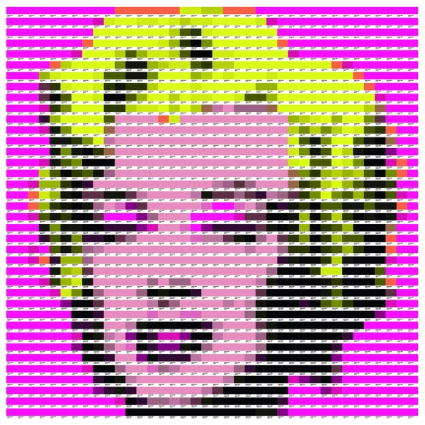 TXABER. Marilyn ( Pantone, more than pixel), 2013. Impresio?n digital sobre lienzo