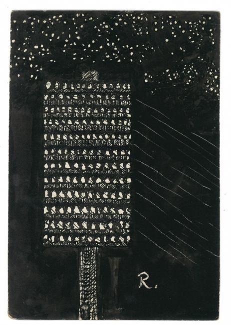 Ramón Gómez de la Serna, Greguerías, 7ª, Blanco y Negro, núm. 2.197, 23 de julio de 1933. Tinta sobre cartón. Museo ABC, Madrid