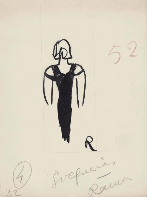 Ramón Gómez de la Serna, Greguerías, 6ª, Blanco y Negro, núm. 2.166, 18 de diciembre de 1932. Tinta y grafito sobre cartulina. Museo ABC, Madrid