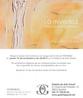 Arturo Martín Burgos. Lo invisible, pinturas sobre música