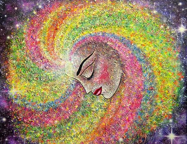 Espiral de colores | Ir al evento: 'Universo de Colores'. Exposición de Pintura en Francisco Duayer / Madrid, España