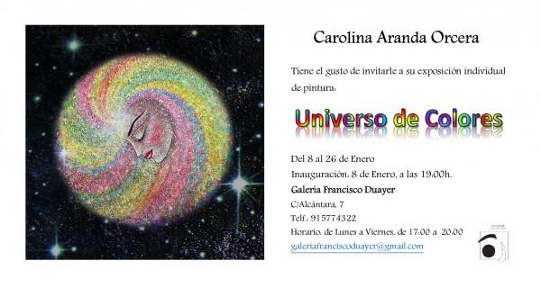 Invitación | Ir al evento: 'Universo de Colores'. Exposición de Pintura en Francisco Duayer / Madrid, España