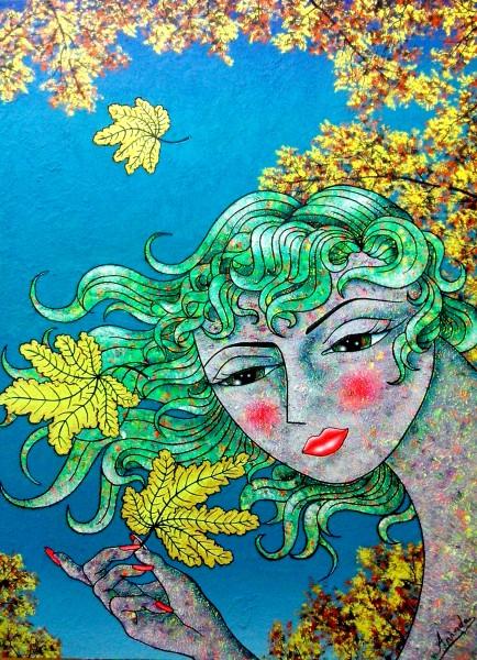 La caída | Ir al evento: 'Universo de Colores'. Exposición de Pintura en Francisco Duayer / Madrid, España