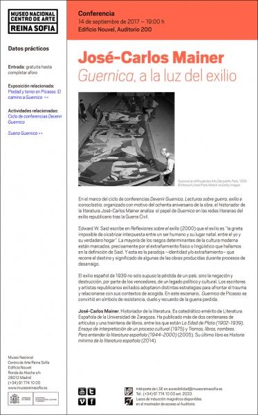 José-Carlos Mainer. Guernica, a la luz del exilio