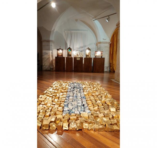 (El rapto de) Europa III - Sala de arte sacro | Ir al evento: 'Lugares comunes'. Exposición en Museo Etnográfico Extremeño González Santana / Olivenza, Badajoz, España