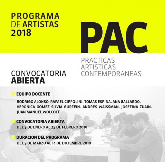 PROYECTO PAC: PRÁCTICAS ARTÍSTICAS CONTEMPORÁNEAS - 2018. Imagen cortesía Proyecto PAC