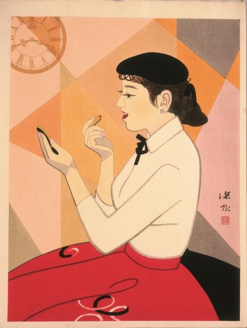 It? Shinsui. Clock and beauty VI, 1964 © Taiyo no Hikari Foundation, Japan, 2018 – Cortesía de la Fundació Joan Miró