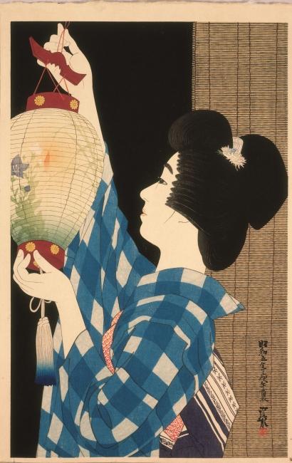 It? Shinsui. Gifu-style paper lantern, 1930 © Taiyo no Hikari Foundation, Japan, 2018 – Cortesía de la Fundació Joan Miró