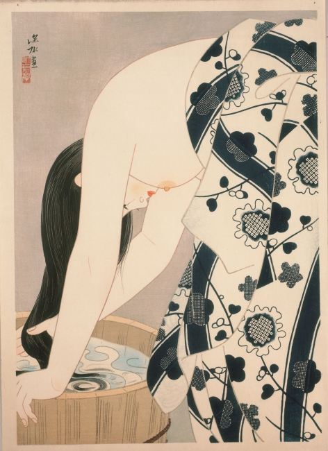 It? Shinsui. Hair, 1952 © Taiyo no Hikari Foundation, Japan, 2018 – Cortesía de la Fundació Joan Miró