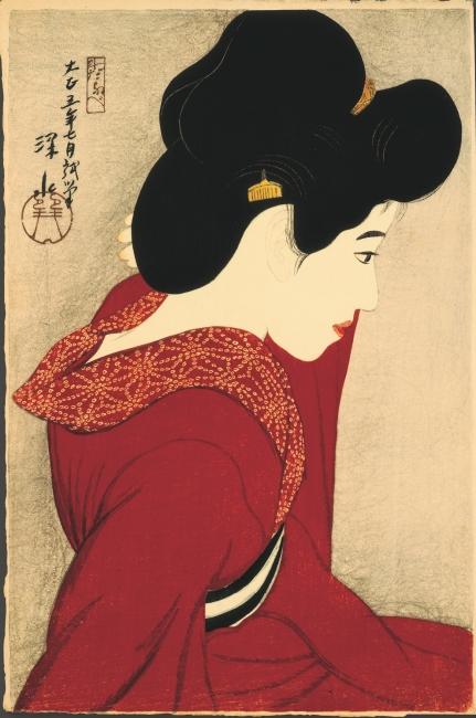 It? Shinsui. Before the mirror, 1916 © Taiyo no Hikari Foundation, Japan, 2018 – Cortesía de la Fundació Joan Miró