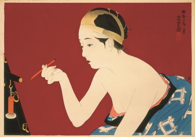 It? Shinsui. Blackening the eyebrows, 1918 © Taiyo no Hikari Foundation, Japan, 2018 – Cortesía de la Fundació Joan Miró