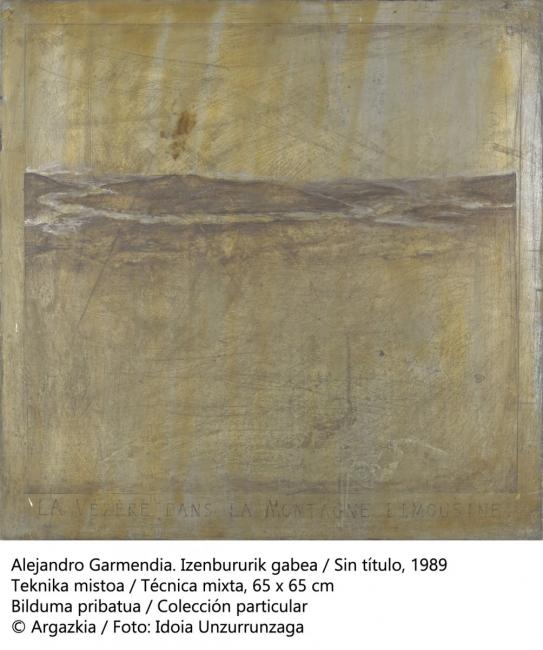 001 Sin título, 1989 Alejandro Garmendia. Cortesía de Kubo Kutxa