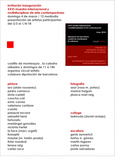 XXVI Mostra Internacional i Multidisciplinària d'Art Contemporani