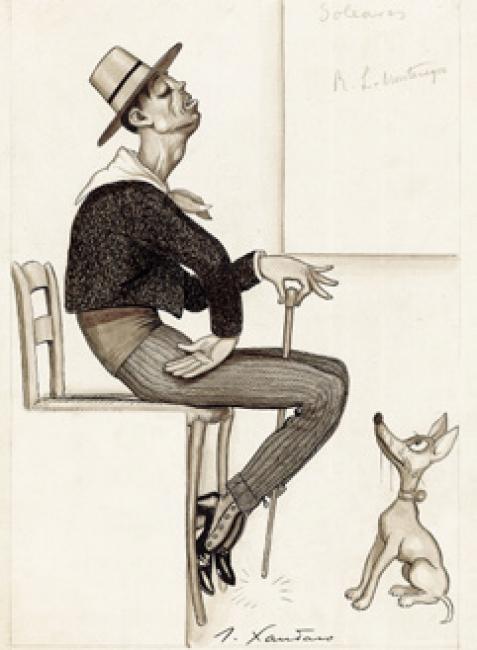 JOAQUÍN XAUDARÓ. SOLEARES, TEXTO DE RAMÓN LÓPEZ-MONTENEGRO, 1924 © MUSEO ABC – Cortesía del Museo ABC