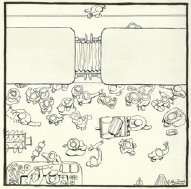 JOAQUÍN XAUDARÓ. EL VERANEO A VISTA DE PÁJARO. CUADRO 1º. LA PARTIDA ©MUSEO ABC – Cortesía del Museo ABC
