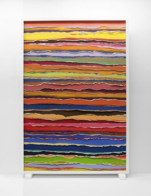 Vik Muniz, Tears 2 (horizontal), Handmade, 2017 | Ir al evento: 'Handmade'. Exposición de Pintura en Elba Benitez / Madrid, España