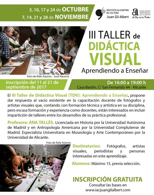 III Taller de Didáctica Visual (TDV): Aprendiendo a Enseñar