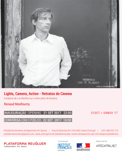 Renaud Monfourny. Lights, Camera, Action - Retratos do Cinema