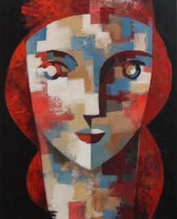 Red, Óleo sobre lienzo, 81 x 65 cm