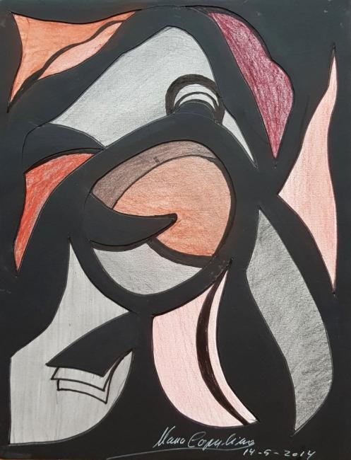 María Capulino, Retazos 21, 2014, Técnica mixta sobre cartulina, 32 x 25 cm – Cortesía de la Galería Acanto