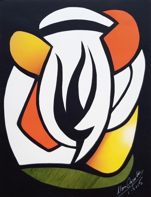María Capulino, Retazos 29, 2015, mixta sobre cartulina, 32 x 25 cm – Cortesía de la Galería Acanto