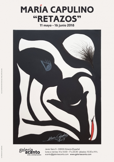 Obra Cartel: María Capulino, Retazos 1, 2014, técnica mixta sobre cartulina, 32 x 25 cm