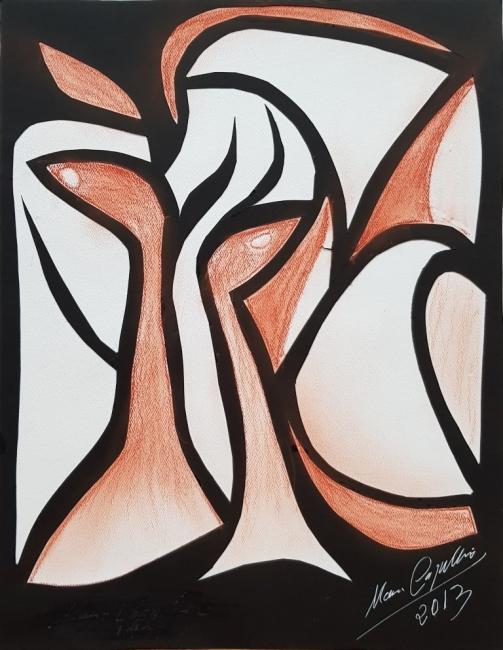 María Capulino, Retazos 23, 2013, técnica mixta sobre cartulina, 32 x 25 cm – Cortesía de la Galería Acanto