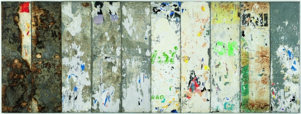 Raymond Hains. Sin título , 1998. Papel sobre metal. Colección MACBA. Fundación MACBA. Donación del artista